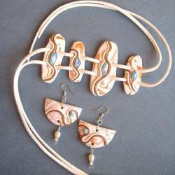 Bracelet And Earrings In S..