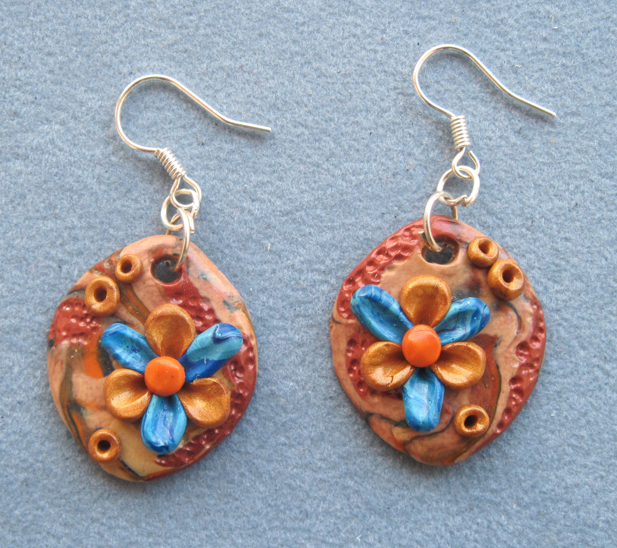 Earrings In Stylish Design Unique Handmade Fimo Ooak